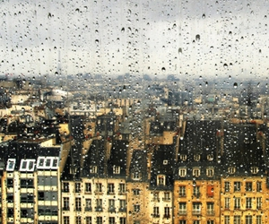 rain, building, and city image