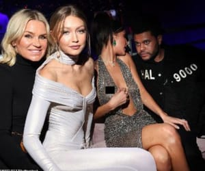 glam, the weeknd, and bella hadid image