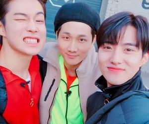 pentagon, dawon, and yeo one image