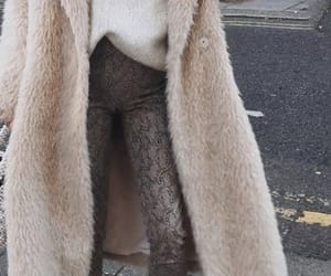 cold, leggings, and coat image