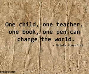 education, education quotes, and malala image