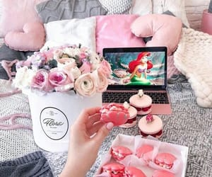 pink, flowers, and disney image