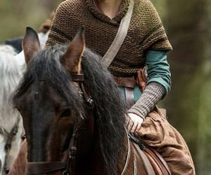 horse, jamie fraser, and outlander image