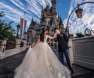 dress, wedding, and disney image
