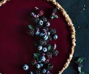 food, berries, and cake image