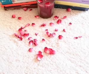 books, candle, and roses image