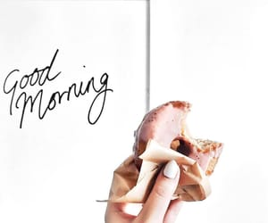breakfast, delicious, and donut image