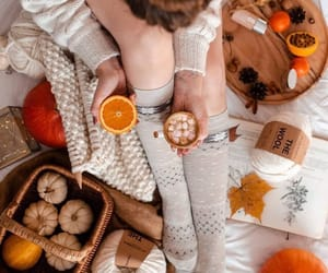 blanket, cozy, and autumn image