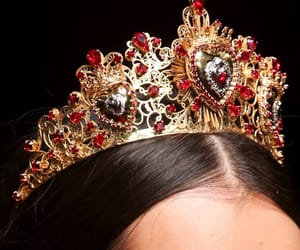 crown, Queen, and red image