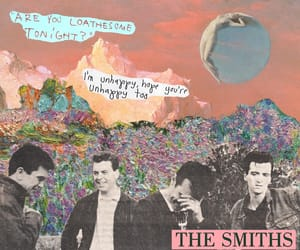 Collage, the smiths, and unhappy image