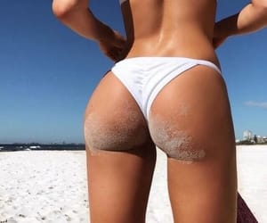 beach babe, bum, and butt image