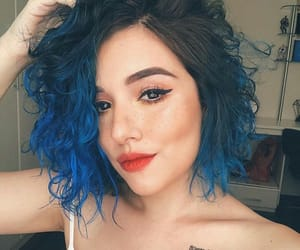 blue, blue hair, and cabelo image
