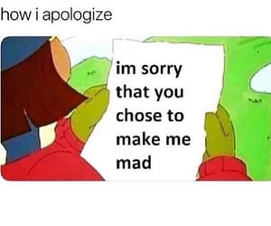 apologize, mad, and funny image