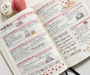 journaling, pink, and schedule image