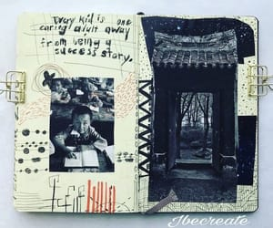 art, art journal, and collage art image