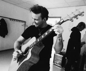 black and white, rock band, and luke hemmings image