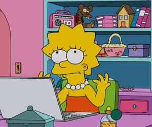 cartoon, kawaii, and lisa simpson image