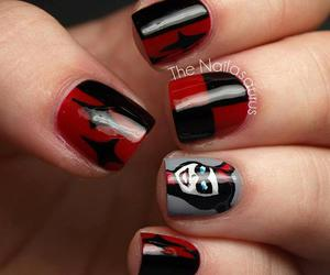 nails, harley quinn, and beauty image