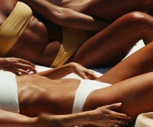 bikini, tan, and brown image