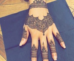 design, henna, and henna tattoo image