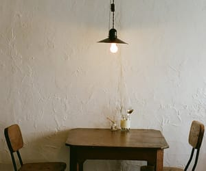 chair, light, and table image