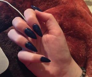 blue nails, acrylic nails, and nails image