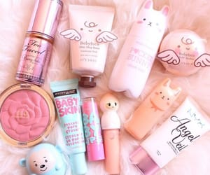 makeup, pink, and kawaii image