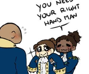 George Washington, lafayette, and alexander hamilton image