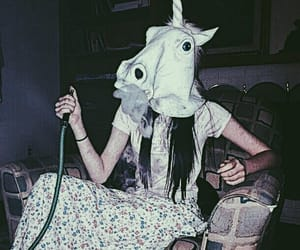 unicorn, smoke, and grunge image