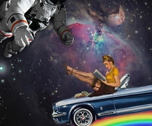 astronaut, background, and car image