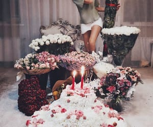 aesthetic, birthday, and flower image