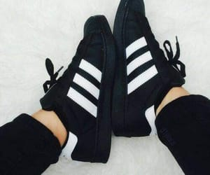 adidas, black, and sneakers image