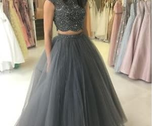fashion, prom dress, and long prom dress image