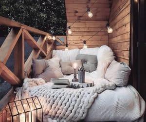 light, balcony, and comfy image