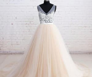 wedding dress lace, lace white wedding dress, and party dress for cheap image