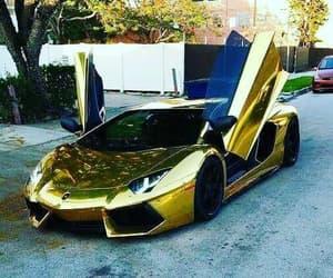 car, Lamborghini, and gold image
