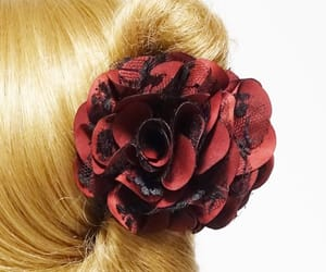 etsy, flower hair claw, and flowerhairclaw image