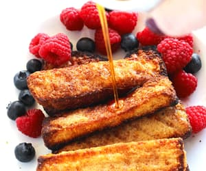 blueberries, breakfast, and french toast image
