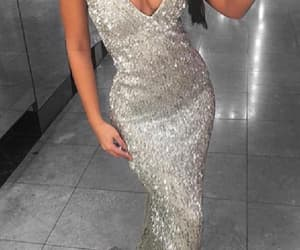 prom dresses, sexy prom dresses, and v-neck prom dresses image