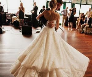 beautiful, happy day, and wedding dress image