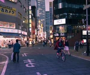 Shinjuku, dusk, and street image