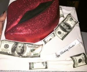 cake, birthday cake, and dollar image
