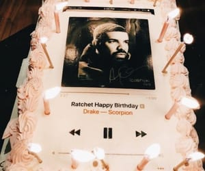 Drake, birthday, and cake image