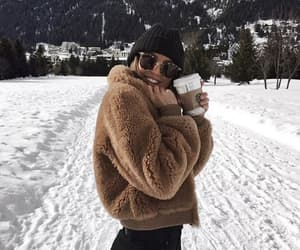 winter, girl, and fashion image