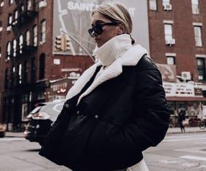city, fashion, and coat image