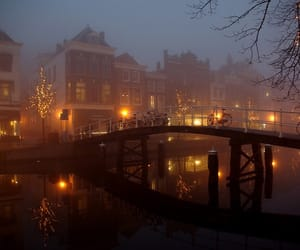 light, amsterdam, and night image