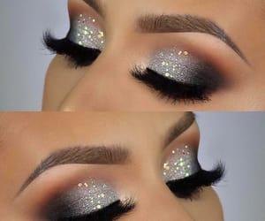 black, grey, and eyes image