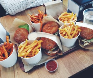 burger, food, and food porn image