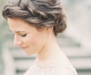 beautiful, hairstyles, and wedding image