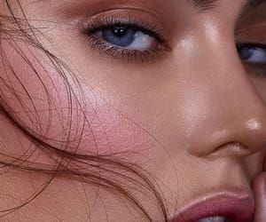 makeup, beuty, and blue eyes image